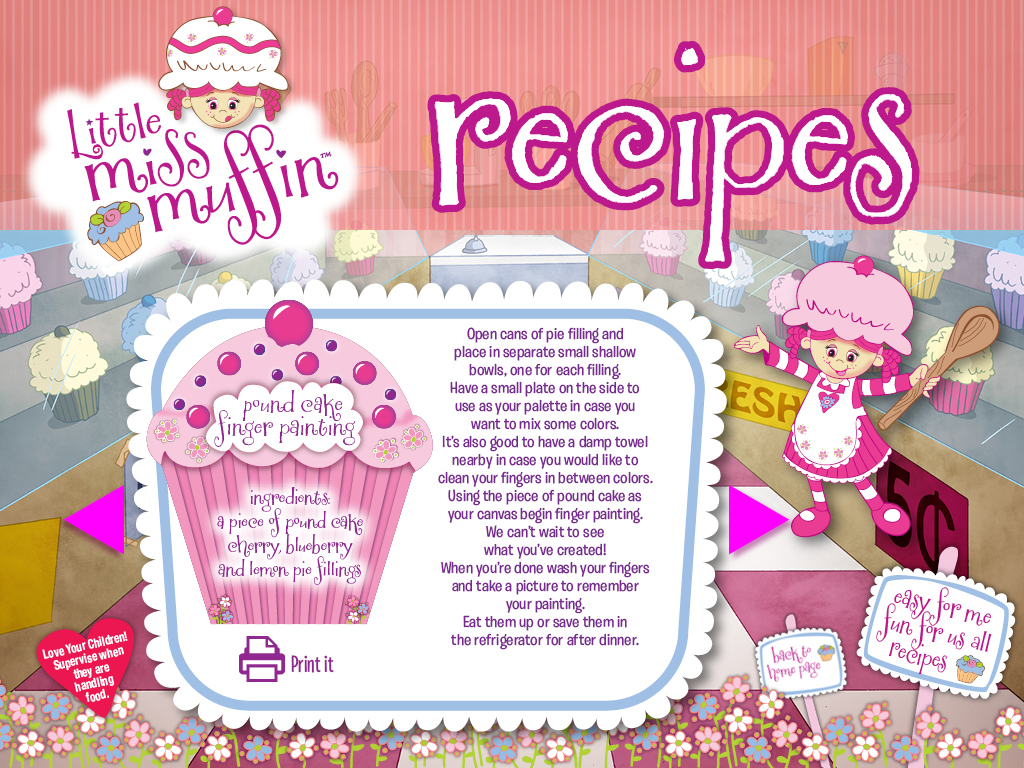 Little Miss Muffin Dolls Pound Cake Finger Painting Recipe